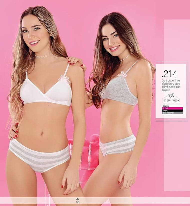 46082c10d0 Conjunto juvenil de algodon y lycra con culotte - Mujer - Conjuntos ...